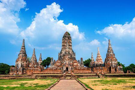 Ayutthaya Historical Park, Wat Chaiwatthanaram Buddhist temple in Thailand. Stok Fotoğraf