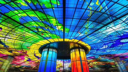 The Dome of light at formosa boulevard station in Kaohsiung city in Taiwan.