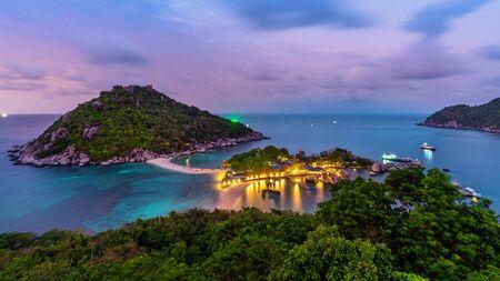 Beautiful viewpoint on Koh Nangyuan island, Surat Thani in Thailand. Stok Fotoğraf