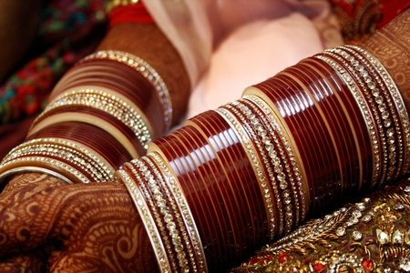 a bracelet: Traditional indian wedding, bride jewellery