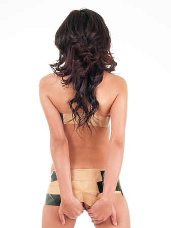 Tape on Naked Woman
