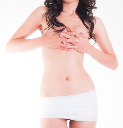 White Skirt and sexy Woman  Stock Photo