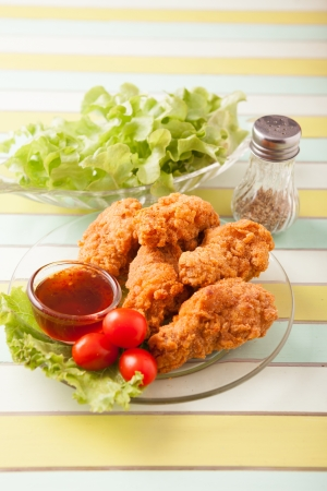 poulet frit: Spicy Fried Chicken