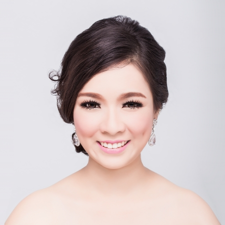 bridal makeup: bridal make up and hair style
