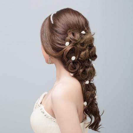 人間の髪の毛: 花嫁のヘアー スタイル