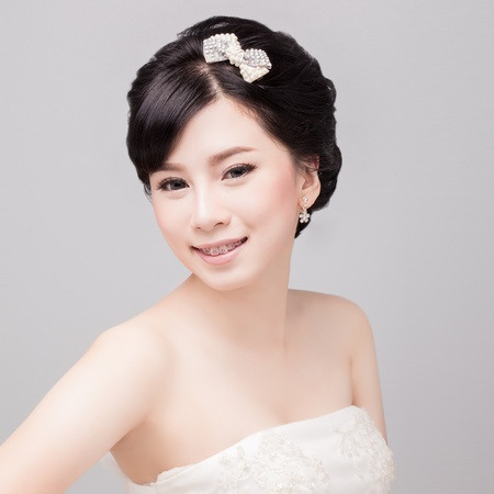 bridal make up and hair style  photo