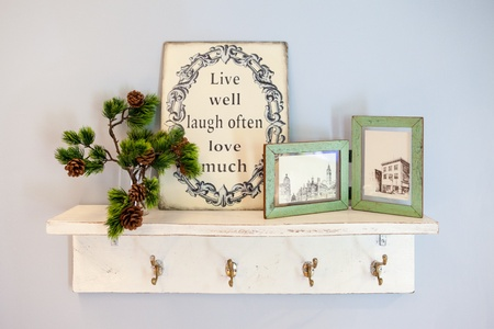 picture frame on wall photo
