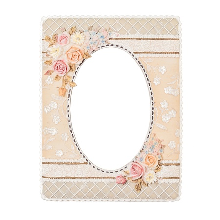 flower picture frame made by resin with handmade color paint photo