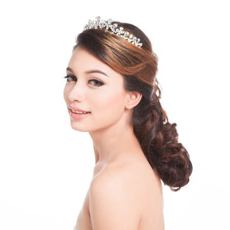 Bridal Make up and Hair Style in studio shot  Stock Photo