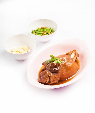 stewed pork leg , studio shot  Stock Photo