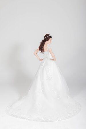 abito da sposa per la sposa Archivio Fotografico