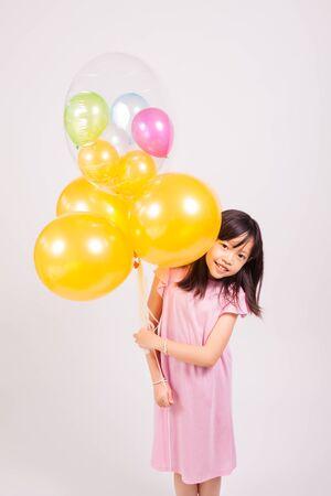 kid and balloons Archivio Fotografico
