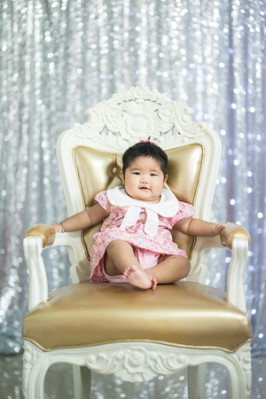 sit: baby sit on chair