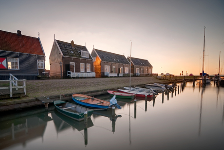 marken: The harbor from the traditional village in Marken island, the Netherlands