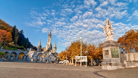 our: Sanctuary of Our Lady of Lourdes France Stock Photo