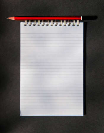 verticals: Spiral Notebook with pencil Stock Photo