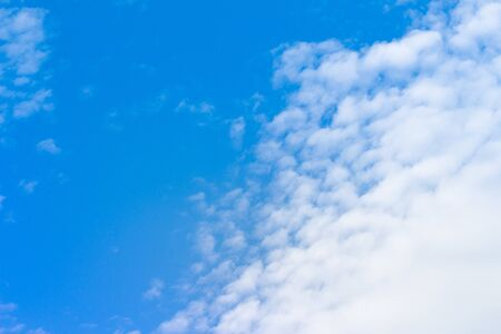 beautiful heaven: blue sky background is covered by white clouds