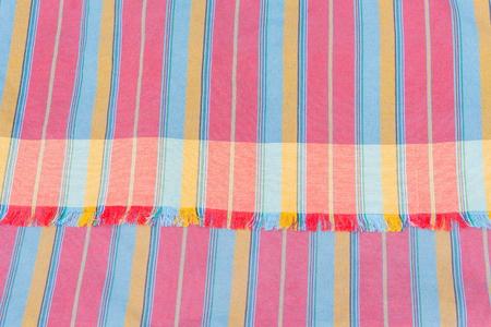 scott: Colorful scott and line close up fabric.