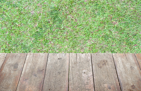 add text: grass and  old  wooden floor,  and space for add text above