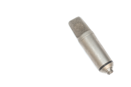microphone, condenser mic on white background.