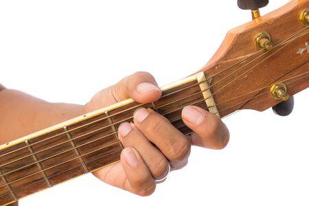 Diagram Of How To Finger An E Minor (Em) Guitar Chord. Stock Photo ...
