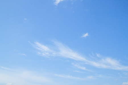 Blue sky and Cloud ,The vast blue sky and Cloud motion white fluffy at beautiful : Ideal use for background :