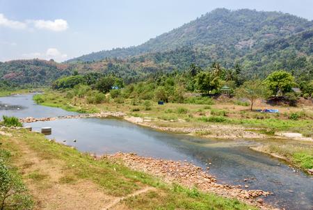 nakhon: beautiful fresh air river the nature Mountain ,  travel in Khiriwong village , Nakhon Si Thammarat  Thailand