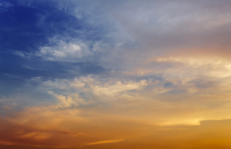 episode: Dark color blue sky and Cloud ,The vast blue sky and Soft Cloud white. and motion fluffy cloud episode sunset beautiful nature : you may be used as background : Stock Photo