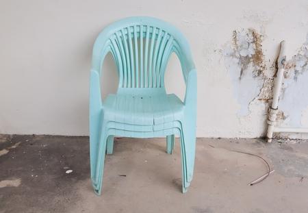 rupture: Old plastic chair Defective rupture