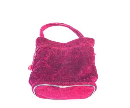 vanity bag: Fabric Handbags velvet Bag ,Bag for cosmetics  isolated on white background
