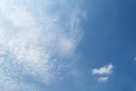 Blue sky and Cloud ,The vast blue sky and Soft Cloud white. and motion fluffy cloud beautiful nature : you may be used as background :