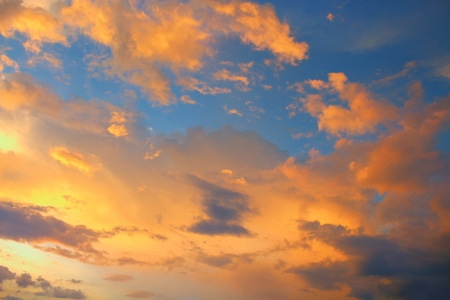 Sky Blue and Cloud at sunset, beautiful nature sky soft cloud Colorful and motion  raincloud  : you may be used as background :