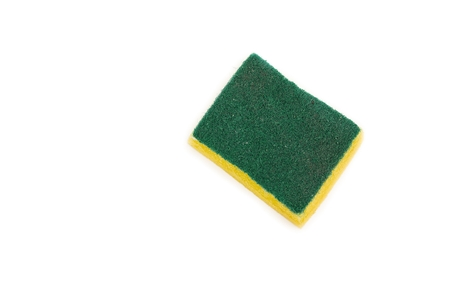 Dishwashing sponge. household sponge for cleaning on white background