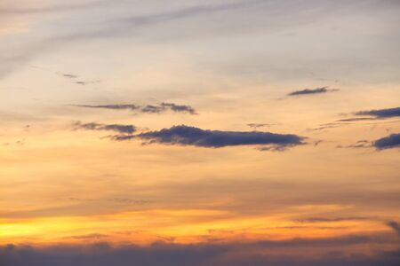 Sunset. beautiful nature Sky and Cloud at sunset, Sky Colorful soft cloud and motion raincloud : you may be used as background :