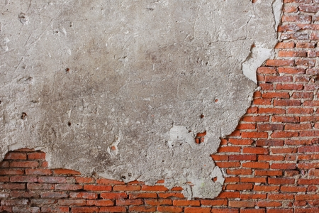 brick wall texture. Antique brick wall texture cracked of cement background, The pattern, and colors : space for add text above and may be used as background :