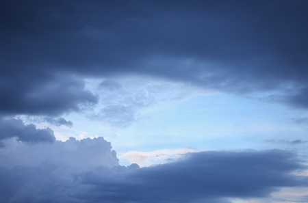 nebulosity: blue sky and raincloud dark  motion beautiful, soft cloud white in nature for background