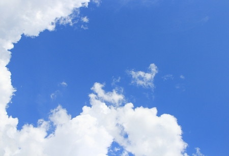 nebulosity: blue sky and big cloud with covered raincloud beautiful in nature background
