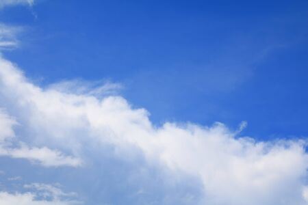 blue sky and white cloud beautiful colorful in nature with copy space for add text Stock Photo