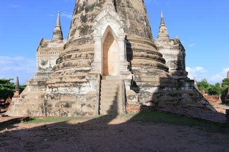 pagoda ancient famous in wat Phra Sri Sanphet ancient beautiful ,Royal Palace in Ajutthaya travel Thailand