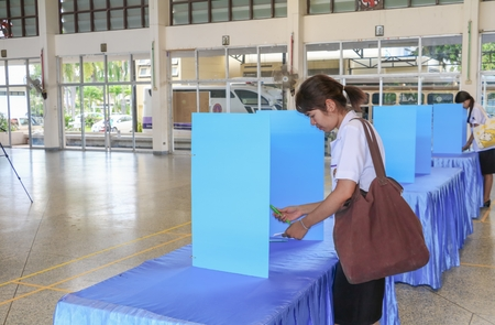 YALA, Thailand November 11,2016 : Vote of Student     Elections  in University in South YALA, Thailand. Editorial