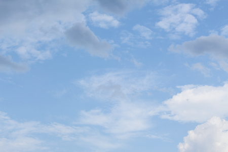 blue sky with white cloud  vivid in nature for background beautiful