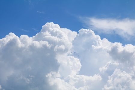 blue sky with big cloud motion beautiful in nature. space for add text above