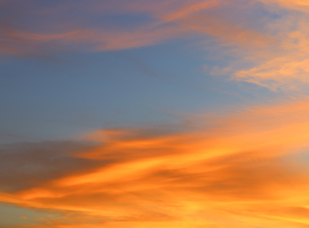 sky in sunset and motion cloud, beautiful colorful evening nature space for add text Stock Photo