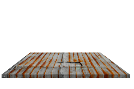 furniture store: Shelf zinc old  Isolated on white background and Clipping path