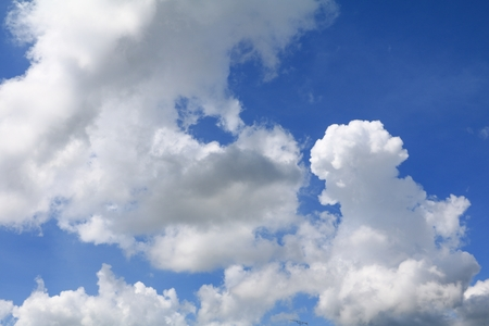 blue sky with big cloud,  art of nature beautiful and copy space for add text Stock Photo