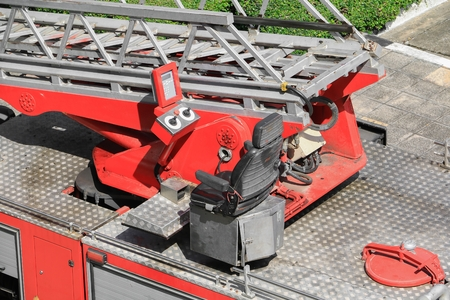 suppression: Fire Equipment red in car Stock Photo