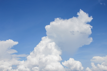blue sky vivid and big cloud beautiful Colorful in nature background Stock Photo