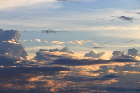 sky in sunset and raincloud art beautiful in nature, space for add text