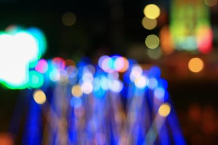 光夜祭新年とクリスマスの美しい背景のボケ味を抽象化、コピー領域にテキストを追加します。 写真素材