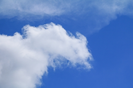 blue sky bright and big cloud beautiful, art of nature  with copy space for add text